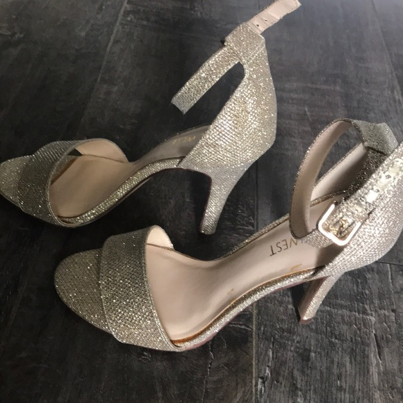Mana Open Toe Gold Glitter Sandals